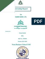 HBL Internship Report by Zaima
