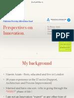Innovation Ideas - Pakistan Poverty Alleviation Fund