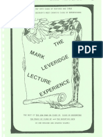 Mark Leveridge - Lecture Notes