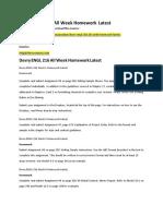 Devry ENGL 216 All Week Homework Latest