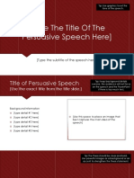Type the Title of the Persuasive Speech