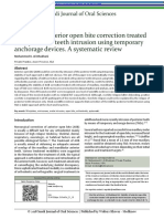 Stability of anterior open bite correction treated with posterior teeth intrusion using temporary anchorage devices. A systematic review