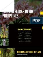 Endemic floras and faunas in the Philippines
