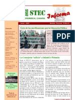 Boletin Mensual STEC Informa JUNIO 2009