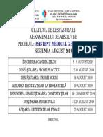 Graficul Examen Absolvire 2019 GENERALIST