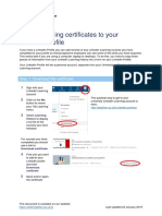 Adding Learning Certificates to LinkedIn Profiles