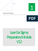 Benchmark Six Sigma Green Belt Preparatory Module V12-1