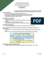 Topic 2 - Cost-Volume-Profit (CVP) Analysis