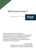 Biochemistry Lecture 1