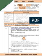 Septiembre - 4to Grado Inglés