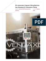 Vendaxo_PAM's Automatic Capsule Filling Machine AF-90T for Tamping, Dosating or Volumetric Filling