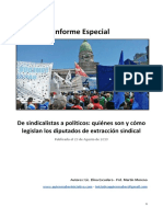 Informe - Quienes Son y Como Legislan Los Diputados de Extracción Sindical