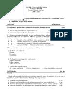 Test de Evaluare Initiala Model Edu Clasa a Viia
