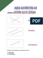 Matematicas Resueltos (Soluciones) Posiciones de 2 Rectas en El Plano Nivel I 1º Bachillerato