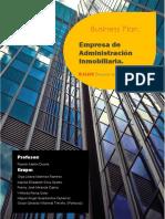 Business Plan. Empresa de Adimistración Inmobiliaria. Grupo 7 (V2. 16-9-2019)