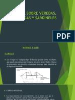 Carga Sobre Veredas, Barandas y Sardineles