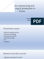 Greater Outsourcing and Offshoring of Production in Puma-PPt