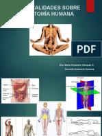 Generalidades Sobre Anatomía Humana
