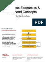 Business Economics & Demand Concepts (1)