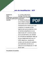 Jurisprudencia-Procedimiento de Desafiliación