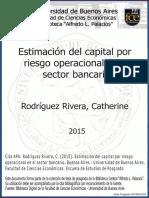 ESTIMACION DEL CAPITAL POR RIESGO OPERACIONAL SECTOR BANCARIA