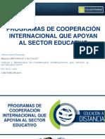 """4.2 Presentación Final. """"Programas de Cooperación Internacional Que Apoyan Al Sector Educativo""""."""
