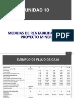Unidad 10 Medidas de Rentabilidad de Un Proyecto Minero