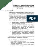 NORMAS PARA LICENCIA DE PATERNIDAD Y MATERNIDAD