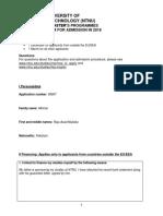 Additional Application Form International Master 2018(1)