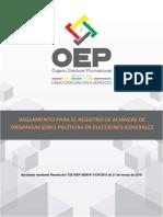 Reglamento Registro Alianzas Elecciones Generales