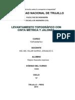 Informe Del Levantamiento Topografico