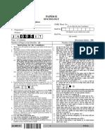 UGC NET Sociology Paper II Question Paper January 2017