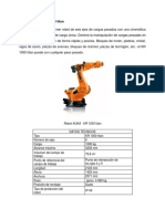 Datos Técnicos de Robots Manipuladores Industriales