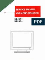 08146-400-040_ML467_ML267_VGA_Mono_Monitor_Service