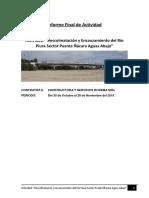 Informe de Descolmatacion RIO CHILLON