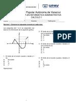Examen calculo 1