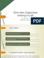 Sdm dan organisasi internal audit