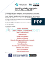 Symmetry Conditions in Fourier Series GATE Study Material in PDF 1