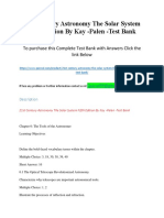 21st Century Astronomy the Solar System Fifth Edition by Kay -Palen Test Bank