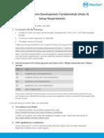 APDevFundamentals4.1 Setup