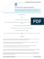 Decreto 1075 de 2015 Sector Educación