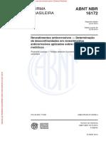 ABNT NBR 16172-Determinação de Descontinuidades