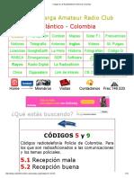 Codigos 5 y 9 Radiotelefonia Policía de Colombia