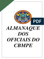 Almanaque Dos Oficiais - CBMPE