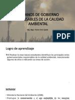 Clase 12 - Organizaciones Gubernamentales Responzables de La Calidad Ambiental