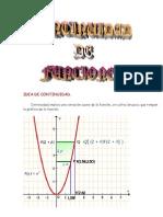 Matematicas Resueltos (Soluciones) Continuidad de Funciones Nivel I 1º Bachillerato