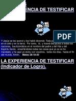 6 Lección 6, La Experiencia de Testificar