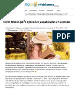 Siete Trucos Para Aprender Vocabulario en Alemán