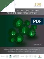 Cuadro básico y Catálogo de Auxiliares de Diagnóstico