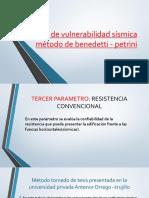 Índice de vulnerabilidad sísmica método de benedetti -exposicion sabado.pptx